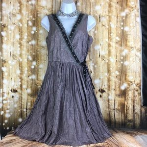 Free people wrap dress sz S lavender and gray